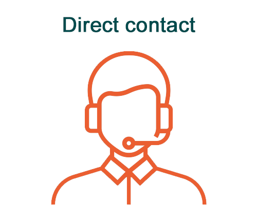 Direct contact illustration