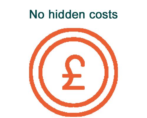 No hidden cost illustration