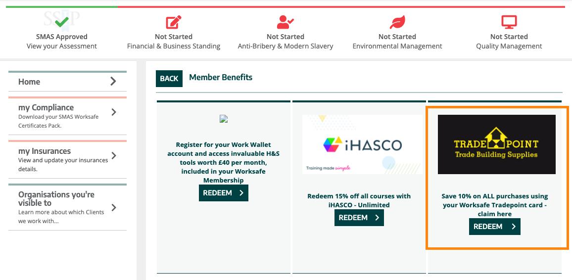 SMAS Worksafe TradePoint portal