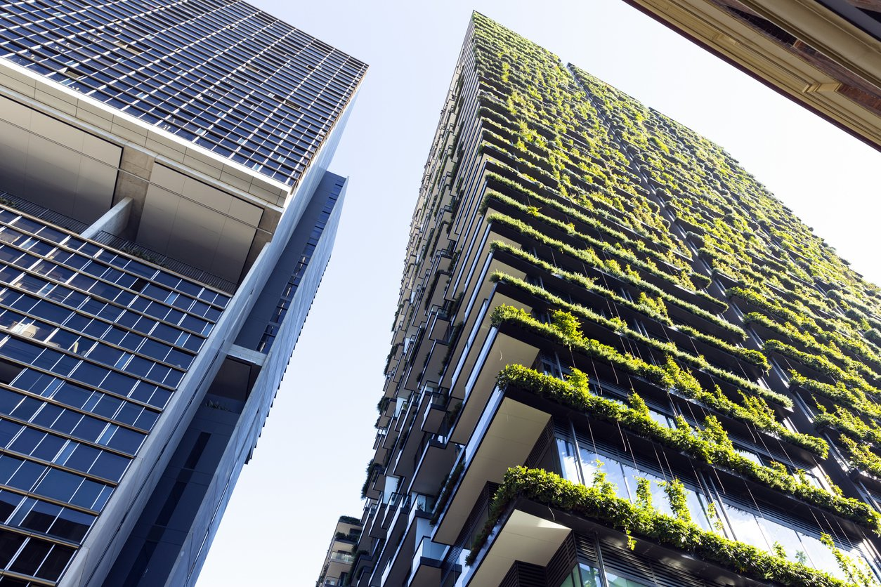 Sustainable Construction, Low angle green apartments